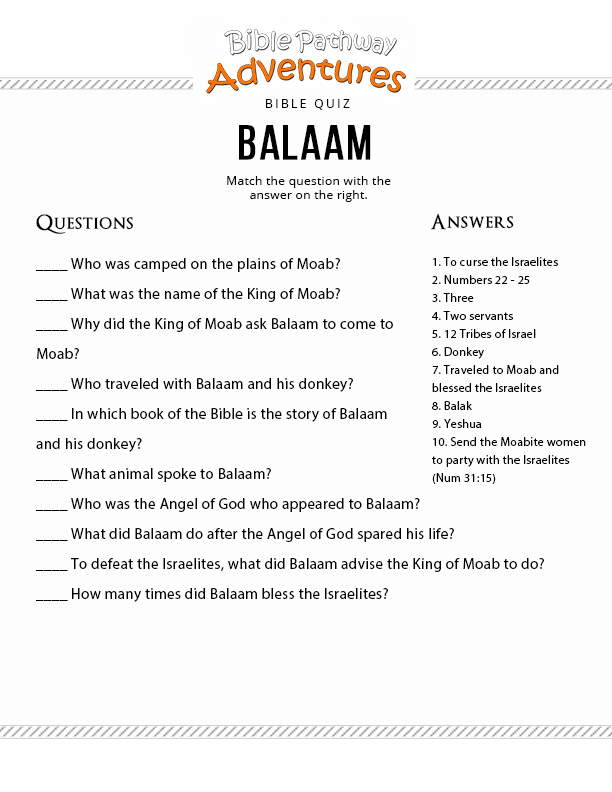 13 Balaam